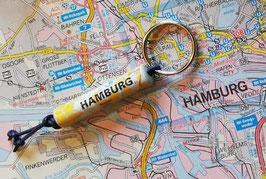 Schlüsselanhänger aus Landkarten