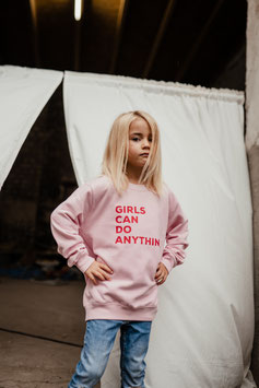 KIDS SWEATER *GIRLS CAN DO ANYTHING*
