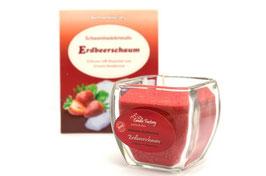 Wellness Kerze Erdbeerschaum