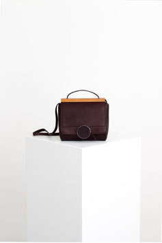 shoulder bag mini 'Twist'  # ID3_17, dark bordeaux