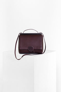 shoulder bag 'Twist'  # ID2_17, dark bordeaux