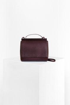 shoulder bag # ID1_17 ,dark bordeaux