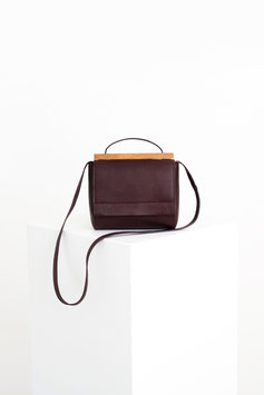 shoulder bag mini # ID11_17, dark bordeaux