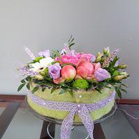 bloementaart op taartschaal