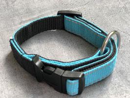 Hundehalsband Türkis mit Reflektor