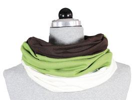 Schamütze - dünne Variante - grün/braun/weiß