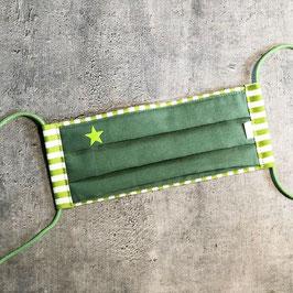 Schnuti 107LV Grün / Hellgrün/Weiß gestreift mit grünem Stern mit Vlies