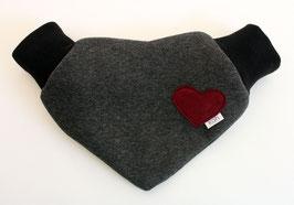 Partnerhandschuh aus grauem Jerseystoff