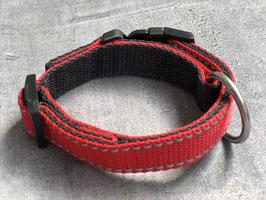 Hundehalsband rot mit Reflektor