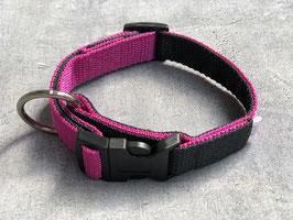 Hundehalsband pink mit Reflektor