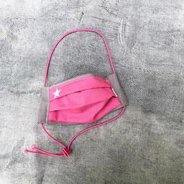 Kinderschnuti 162 Pink / Grau mit weißem Stern