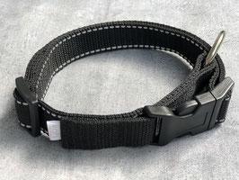 Hundehalsband Schwarz mit Reflektor