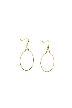 lk3136or :  Gold Filled Earrings (14K gold plated on copper), Simple Symmetrical Hoops, 4,5cm (1,77 inches)