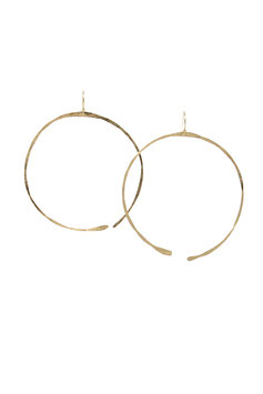 lk2909or : Symmetrical Gold Filled Earrings, 7cm ( 2,75 inches )