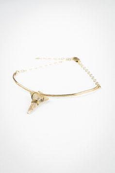Combinaison bracelet ligne 39 avec pendentif requin lune 32 gold filled réglable 14cm à 19cm