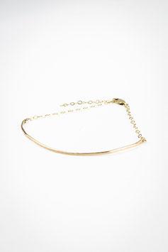39 Bracelet ligne gold filled réglable de 15cm à 19cm