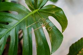 LK3105or trio de boucles d'oreilles en gold filled et tourmaline verte
