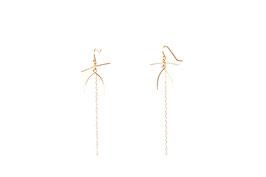 LK3086or Boucles d'oreilles en gold filled ( or 14 carats plaqué sur cuivre) mini motif JOY. 7cm