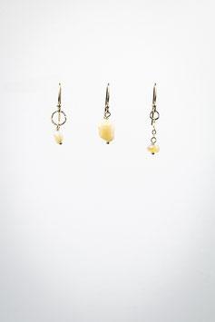 16 trio opale de feu boucles d'oreilles gold filled 1,5cm