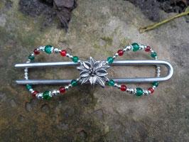 """""""Weihnachtsstern"""" Duttspange 12cm"""