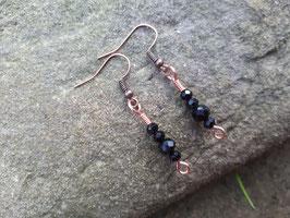 Kupfer Ohrhänger schwarz