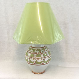 Lampe de salon, decor engobe. Large slipware lamp.