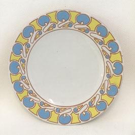 Grand plat rond, art nouveau. Large round platter, art nouveau.