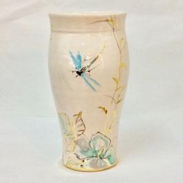 Vase aux libellules. Vase with dragonflies.