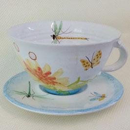 Déjeuner Opale. Breakfast cup Fuchsia.