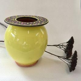 Vase à col plat, Flat top vase.