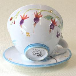 Déjeuner Fuchsia. Breakfast cup Fuchsia.
