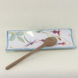 Repose cuillère Fuchsia. Spoon rest Fuchsia.