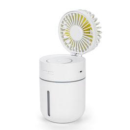Linuo USB Tischventilator mit Luftbefeuchter, weiss, GO-T9W
