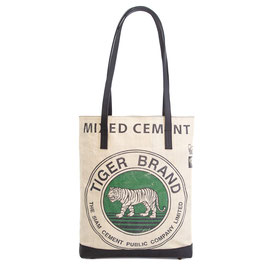 Elephbo Recycling Tote Bag - Green Tiger