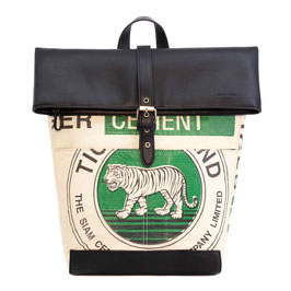 Elephbo Recycling Rucksack (Rolltop) - Green Tiger
