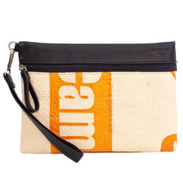 Elephbo Recycling Travelbag - Orange Stripe
