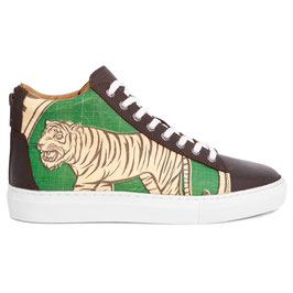 Elephbo Recycling Sneaker High - Green Tiger