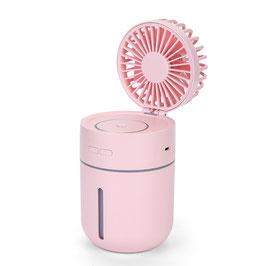 Linuo USB Tischventilator mit Luftbefeuchter, pink, GO-T9P