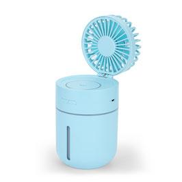 Linuo USB Tischventilator mit Luftbefeuchter, blau, GO-T9B