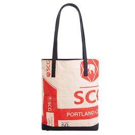 Elephbo Recycling Tote Bag - Red Elephant