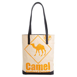 Elephbo Recycling Tote Bag - Orange Camel