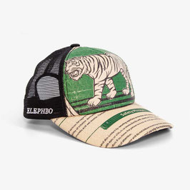 Elephbo Recycling Cap Mesh - Green Tiger