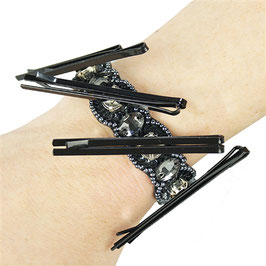 GW - MAGNETIC PIN & MAKEUP HOLDER BRACELET / BLACK