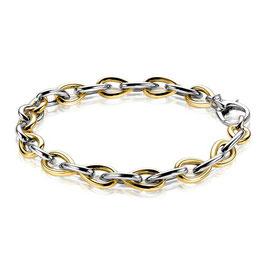 zilveren armband geel verguld bicolor