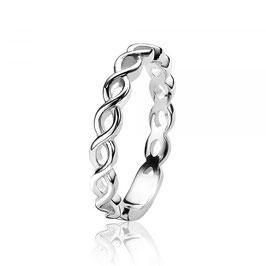 Zilveren Aanschuifring Infinity