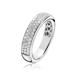 Zilveren Ring Vol Bezet met Zirkonia's