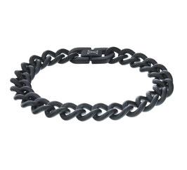 Gourmette Satin armband zwart