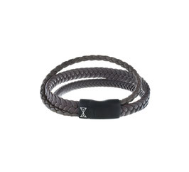 Iron Three String Brown-on-Black armband