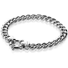 Zilveren gourmet armband