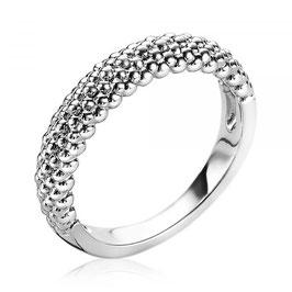 Zinzi Zilveren Ring met Glinsterende Bolletjes
